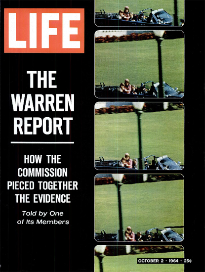 Warren Report JFK Assassination 2 Oct 1964 Copyright Life Magazine | Life Magazine Color Photo Covers 1937-1970
