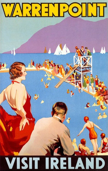 Warrenpoint Lido Visit Ireland | Sex Appeal Vintage Ads and Covers 1891-1970