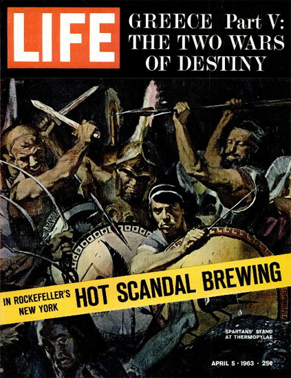 Wars of Greece Ancient World 5 Apr 1963 Copyright Life Magazine | Life Magazine Color Photo Covers 1937-1970