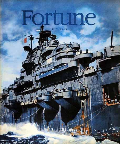 Warship Fortune Magazine July 1945 Copyright | Fortune Magazine Graphic Art Covers 1930-1959