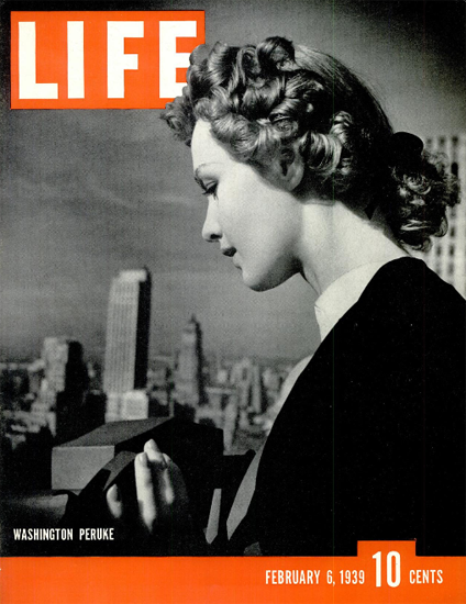 Washington Peruke 6 Feb 1939 Copyright Life Magazine | Life Magazine BW Photo Covers 1936-1970