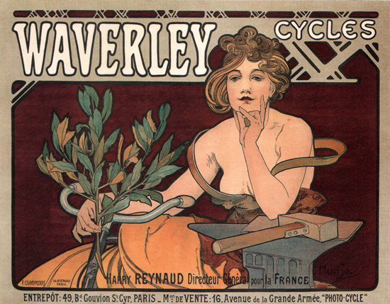 Waverley Cycles Paris France | Sex Appeal Vintage Ads and Covers 1891-1970
