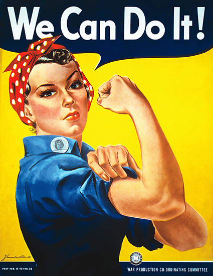 We Can Do It Girl Westinghouse | Vintage War Propaganda Posters 1891-1970