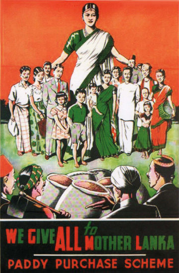 We Give All To Mother Lanka Ceylon Sri Lanka | Vintage Ad and Cover Art 1891-1970