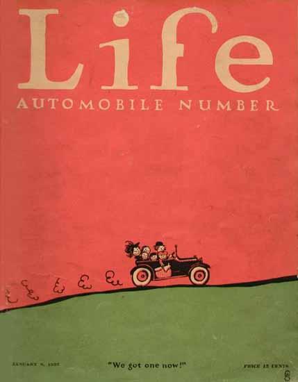 We got one now Life Humor Magazine 1925-01-08 Copyright   Life Magazine Graphic Art Covers 1891-1936