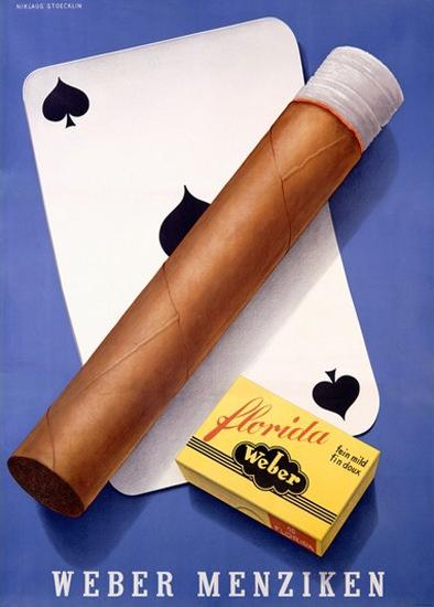 Weber Menziken Cigars Florida Switzerland | Vintage Ad and Cover Art 1891-1970
