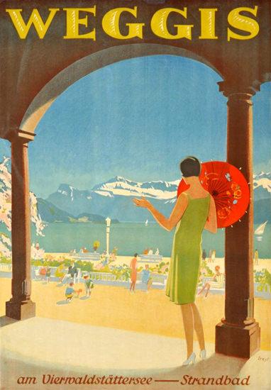 Weggis Vierwaldstaettersee Strandbad 1930s | Sex Appeal Vintage Ads and Covers 1891-1970