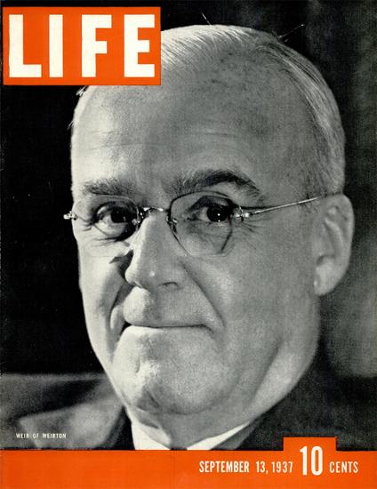 Weir of Weirton 13 Sep 1937 Copyright Life Magazine | Life Magazine BW Photo Covers 1936-1970