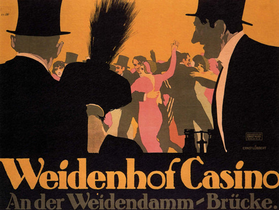 Weisenhof Casino Germany Deutschland | Vintage Ad and Cover Art 1891-1970