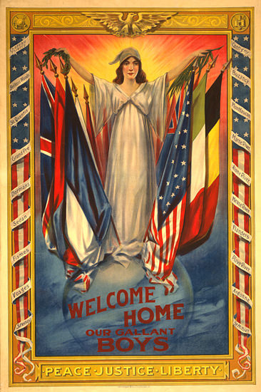 Welcome Home Our Gallant Boys | Vintage War Propaganda Posters 1891-1970