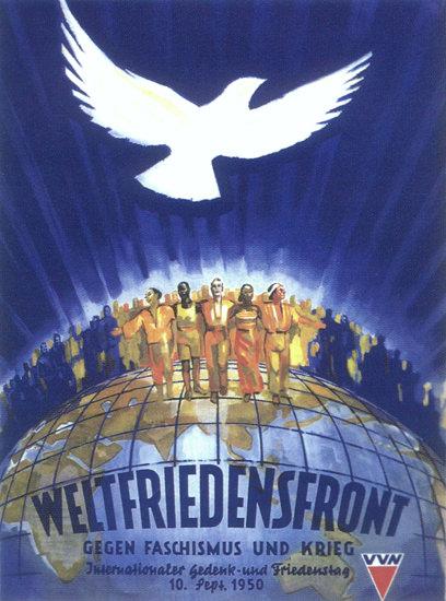 Weltfriedensfront VVN 1950 Peace Convention   Vintage War Propaganda Posters 1891-1970
