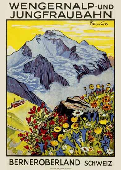 Wengernalp Jungfrau Berner Oberland Switzerland 1922 | Vintage Travel Posters 1891-1970