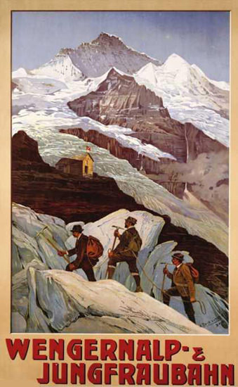 Wengernalp Jungfraubahn Switzerland 1900   Vintage Travel Posters 1891-1970
