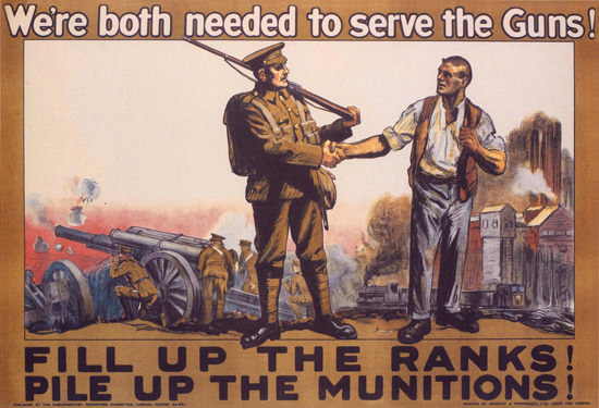 Were Both Needed To Serve The Guns UK | Vintage War Propaganda Posters 1891-1970
