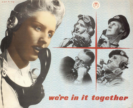 Were In It Together United Kingdom | Vintage War Propaganda Posters 1891-1970