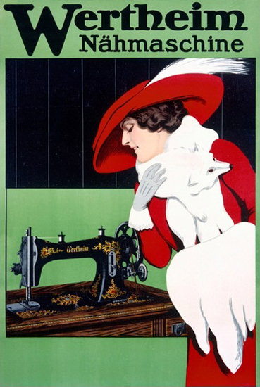 Wertheim Naehmaschine Sewing Machine | Sex Appeal Vintage Ads and Covers 1891-1970