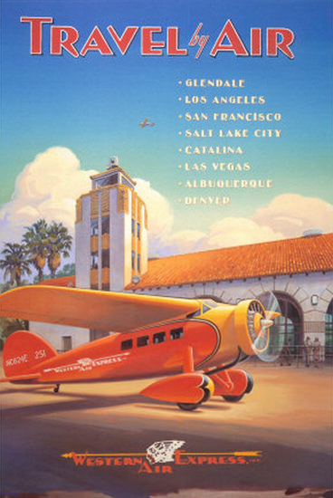 Western Air Express Los Angeles San Francisco | Vintage Travel Posters 1891-1970