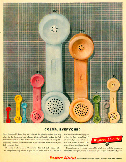Western Electric Color Everyone   Vintage Ad and Cover Art 1891-1970
