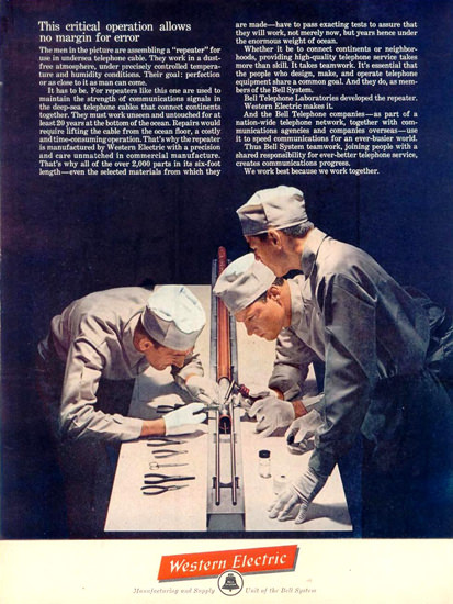 Western Electric Critical Operation 1961 | Vintage Ad and Cover Art 1891-1970