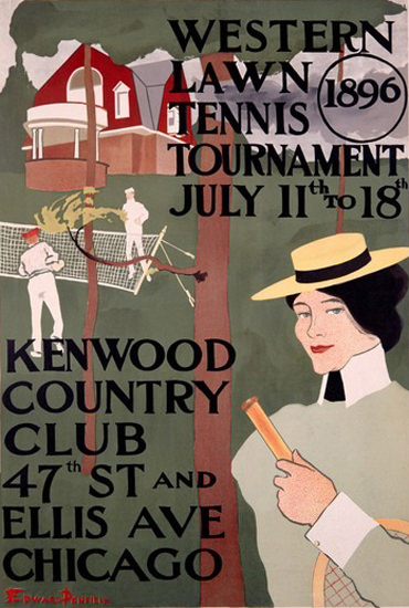 Western Lawn Tennis Tournamant Chicago 1896 | Vintage Ad and Cover Art 1891-1970