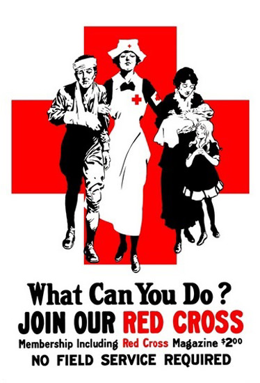 What Can You Do Join The Red Cross Nurse | Vintage War Propaganda Posters 1891-1970