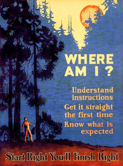Where Am I Start Right Youll Finish Right Forest | Vintage Ad and Cover Art 1891-1970