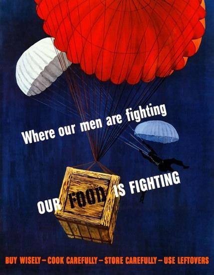 Where Our Men Are Fighting Our Food Is Fighting | Vintage War Propaganda Posters 1891-1970