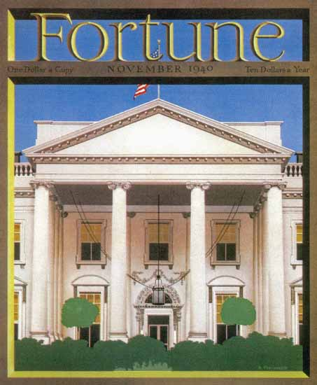 White House Fortune Magazine November 1940 Copyright | Fortune Magazine Graphic Art Covers 1930-1959