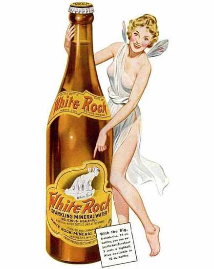 White Rock Ad Mineral Water Sex Appeal | Sex Appeal Vintage Ads and Covers 1891-1970