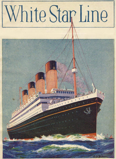White Star Line Olympic 1926 | Vintage Travel Posters 1891-1970