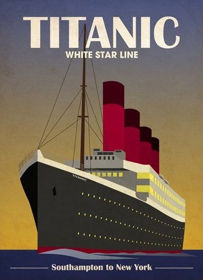 White Star Line Titanic Maiden Trip 1912 | Vintage Travel Posters 1891-1970