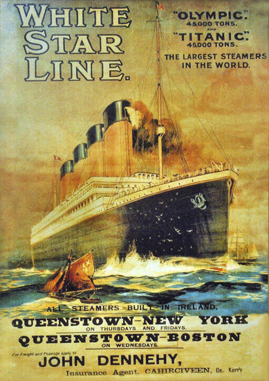 White Star Titanic Queenstown-New York 1911 | Vintage Travel Posters 1891-1970