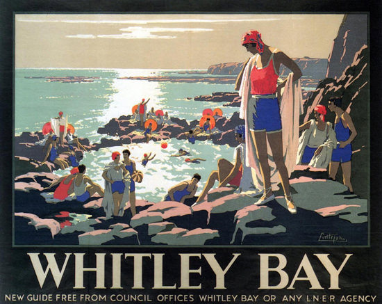 Whitley Bay 1929 J Littlejohns | Vintage Travel Posters 1891-1970