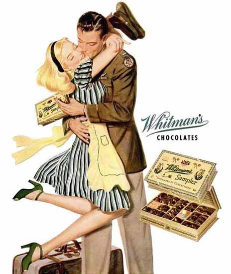 Whitmans Chocolates Ad Sampler Sex Appeal | Sex Appeal Vintage Ads and Covers 1891-1970