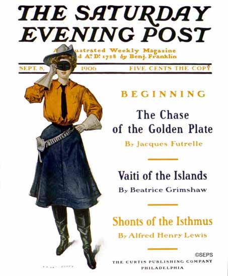 Will Grefe Cover Artist Saturday Evening Post 1906_09_08 | The Saturday Evening Post Graphic Art Covers 1892-1930
