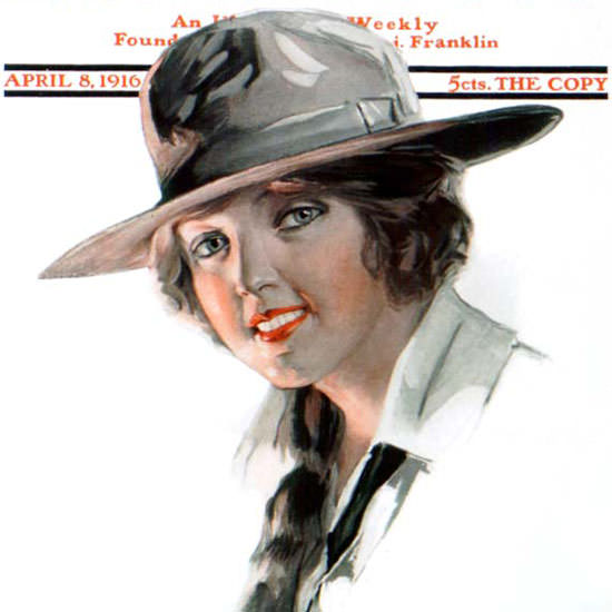 Will Grefe Cover Artist Saturday Evening Post 1916_04_08 Copyright crop | Best of 1891-1919 Ad and Cover Art