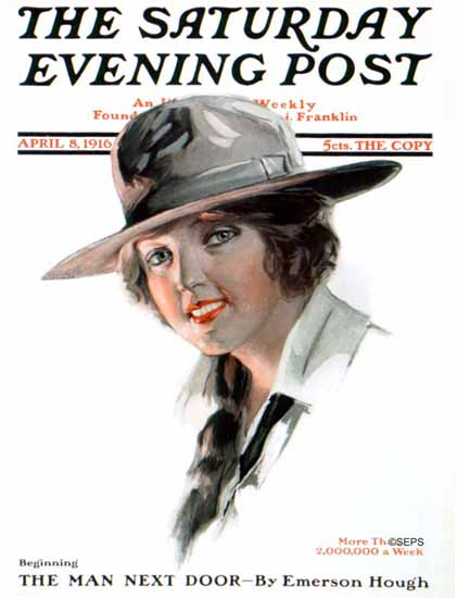 Will Grefe Cover Artist Saturday Evening Post 1916_04_08 | The Saturday Evening Post Graphic Art Covers 1892-1930