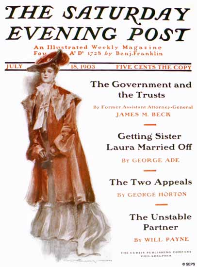 Will Grefe Saturday Evening Post Cover 1903_07_18 | The Saturday Evening Post Graphic Art Covers 1892-1930