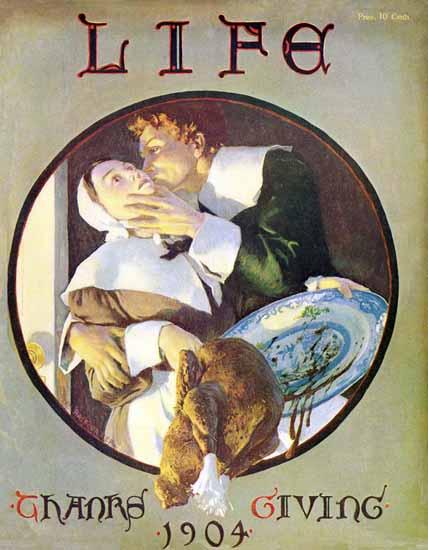 William Balfour Ker Life Humor Magazine 1904-11-17 Copyright   Life Magazine Graphic Art Covers 1891-1936