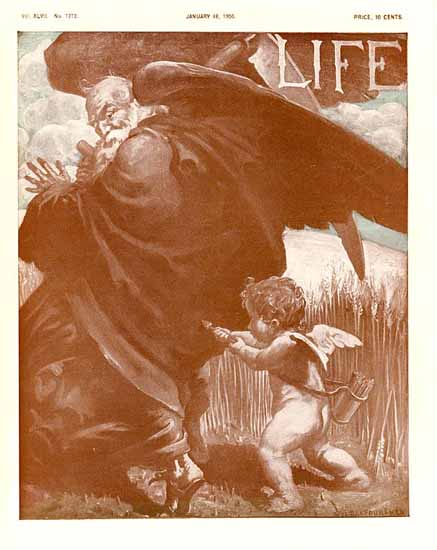 William Balfour Ker Life Humor Magazine 1906-01-18 Copyright | Life Magazine Graphic Art Covers 1891-1936
