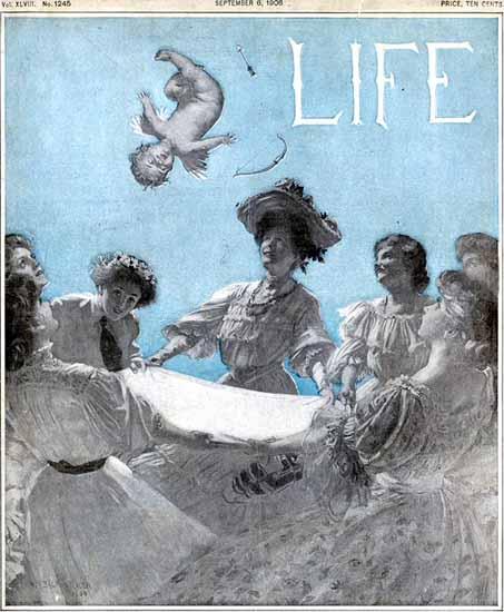 William Balfour Ker Life Humor Magazine 1906-09-06 Copyright | Life Magazine Graphic Art Covers 1891-1936