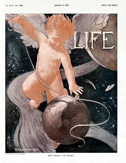 William Balfour Ker Life Humor Magazine 1907-01-03 Copyright | Life Magazine Graphic Art Covers 1891-1936