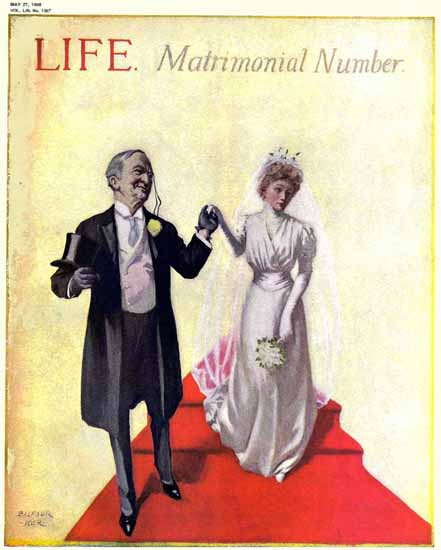 William Balfour Ker Life Humor Magazine 1909-05-27 Copyright | Life Magazine Graphic Art Covers 1891-1936