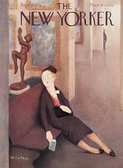 William Cotton The New Yorker 1936_09_19 Copyright | The New Yorker Graphic Art Covers 1925-1945