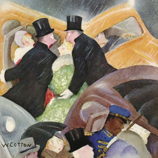 William Cotton The New Yorker 1937_01_16 Copyright crop | Best of Vintage Cover Art 1900-1970