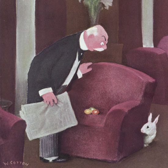 William Cotton The New Yorker 1940_03_23 Copyright crop | Best of Vintage Cover Art 1900-1970