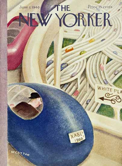 William Cotton The New Yorker 1940_06_01 Copyright   The New Yorker Graphic Art Covers 1925-1945
