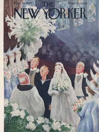 William Cotton The New Yorker 1943_03_20 Copyright | The New Yorker Graphic Art Covers 1925-1945