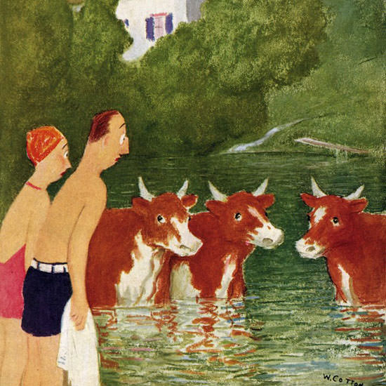 William Cotton The New Yorker 1943_07_10 Copyright crop   Best of Vintage Cover Art 1900-1970