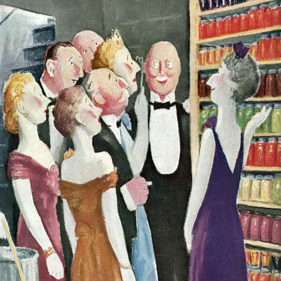 William Cotton The New Yorker 1944_02_05 Copyright crop | Best of Vintage Cover Art 1900-1970